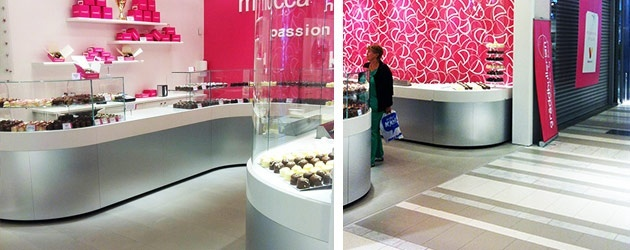 Kakel Gräddbullerians nya butik i Väla centrum